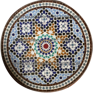 Moroccan mosaic table by Maroc Architecture et Zellij
