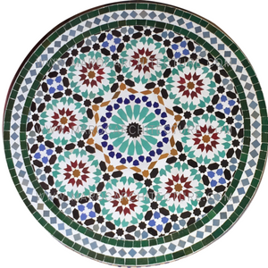 Sixteen Pointed Mosaic Table Top 1915