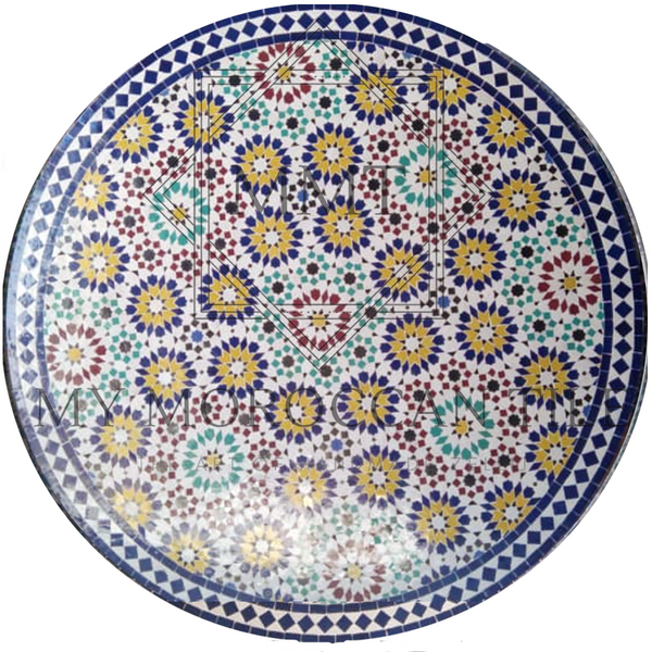 Moroccan mosaic table with mosaic 182