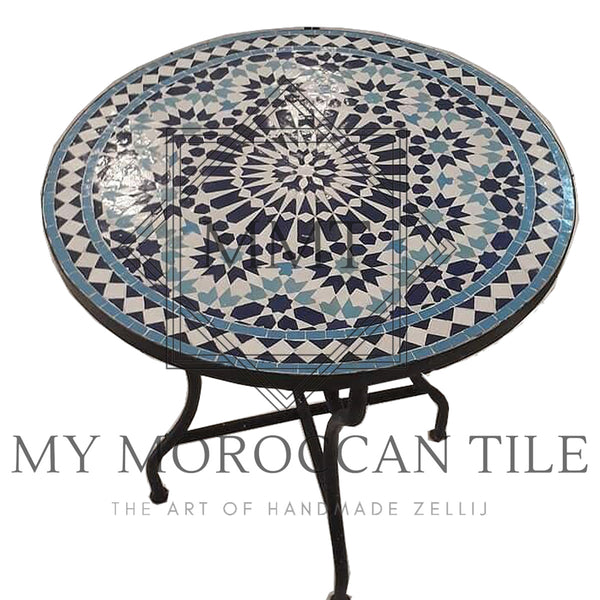 Twenty Four Pointed Star Mosaic Table 2410