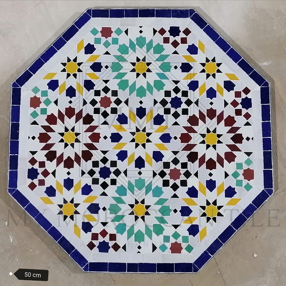 Handmade Moroccan Mosaic Table 2108-19