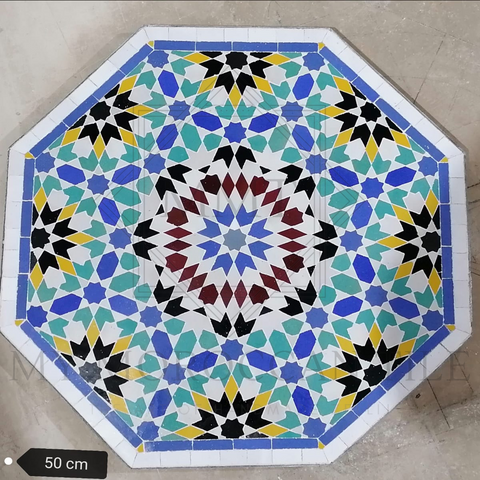 Handmade Moroccan Mosaic Table 2116-06