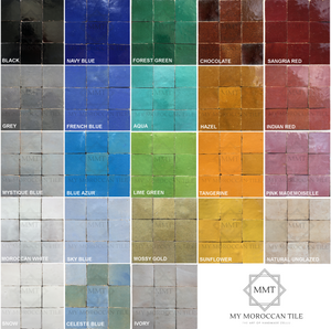 Moroccan tile color