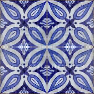 handpainted moroccan tiles by Maroc Architecture et Zellij