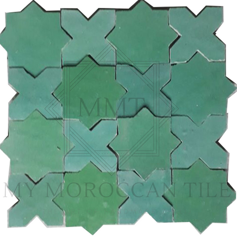 Star and Cross Moroccan Tile