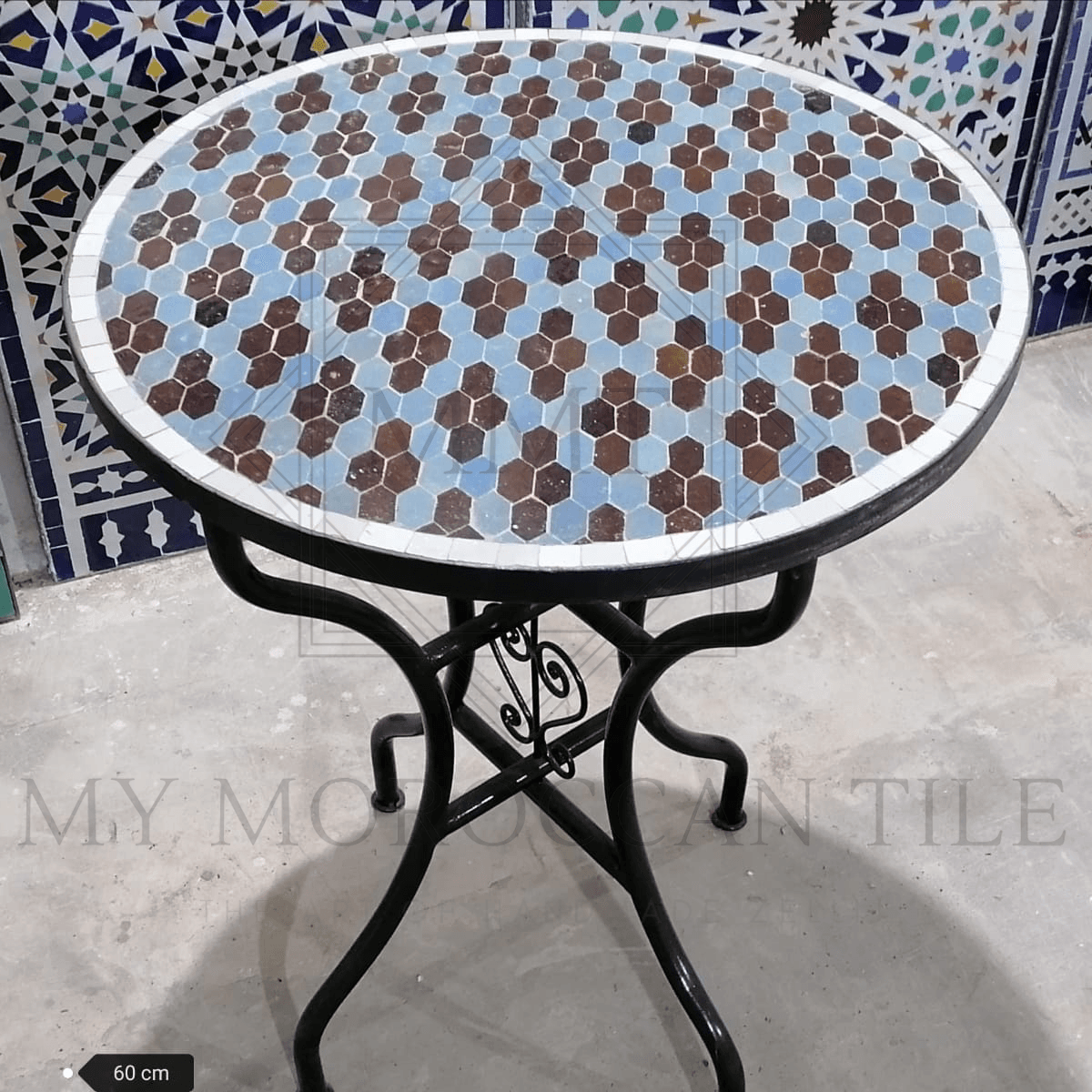Handmade Moroccan Mosaic Table 2106-02
