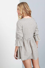 Load image into Gallery viewer, Striped Bell Sleeve Mini