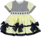 Yellow & Navy Blue Stripes Baby Dress