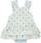 White and blue dotted body