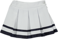 Yellow male skirt with pattern and navy blue ribbon