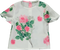 Tunic blouse with rose print