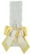 Lace ribbon with bow and yellow flowers