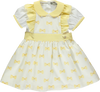 Tank top and skirt set with yellow bow pattern