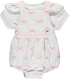 Pink Bow Print Baby Set