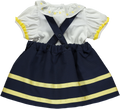 Navy Blue & Yellow Bow Baby Set