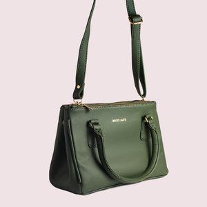 Saturdaze Olive Double Zip Satchel Bag - Broke Mate