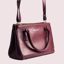 Load image into Gallery viewer, Saturdaze Wine Double Zip Satchel Bag - Broke Mate