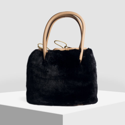 Winter Is Here Faux Fur Sling /Bucket Bag - Broke Mate