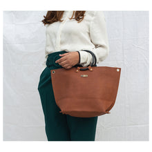 Load image into Gallery viewer, Ring Handle Rust Tote Bag - Broke Mate