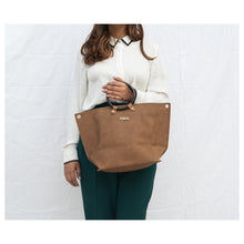 Load image into Gallery viewer, Ring Handle Tan Tote Bag - Broke Mate