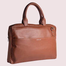 Load image into Gallery viewer, 14.5 Inch  Brown Leather  Laptop Bag - Broke Mate