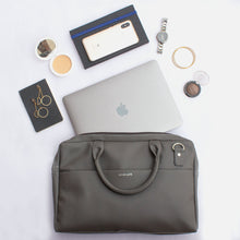 Load image into Gallery viewer, 14.5 Inch Grey Leather Laptop Bag - Broke Mate