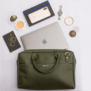 Laptop Olive Messenger Bag - Broke Mate