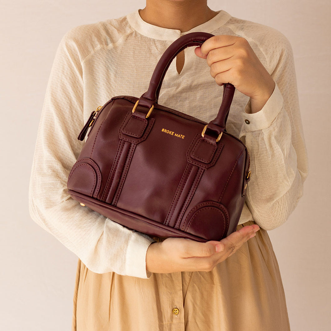 Tuesday Burgundy Women's Satchel - Broke Mate