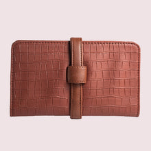 Load image into Gallery viewer, Everyday Cinnamon Faux Croc Clutch Wallet - Broke Mate
