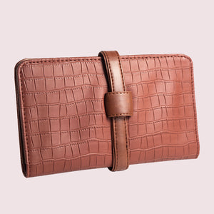Everyday Cinnamon Faux Croc Clutch Wallet - Broke Mate