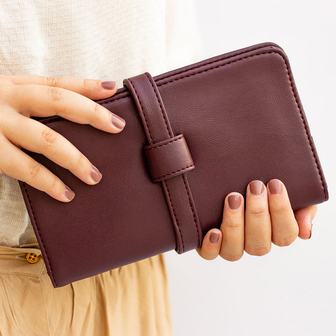 Everyday Mahogany Clutch Wallet - Broke Mate