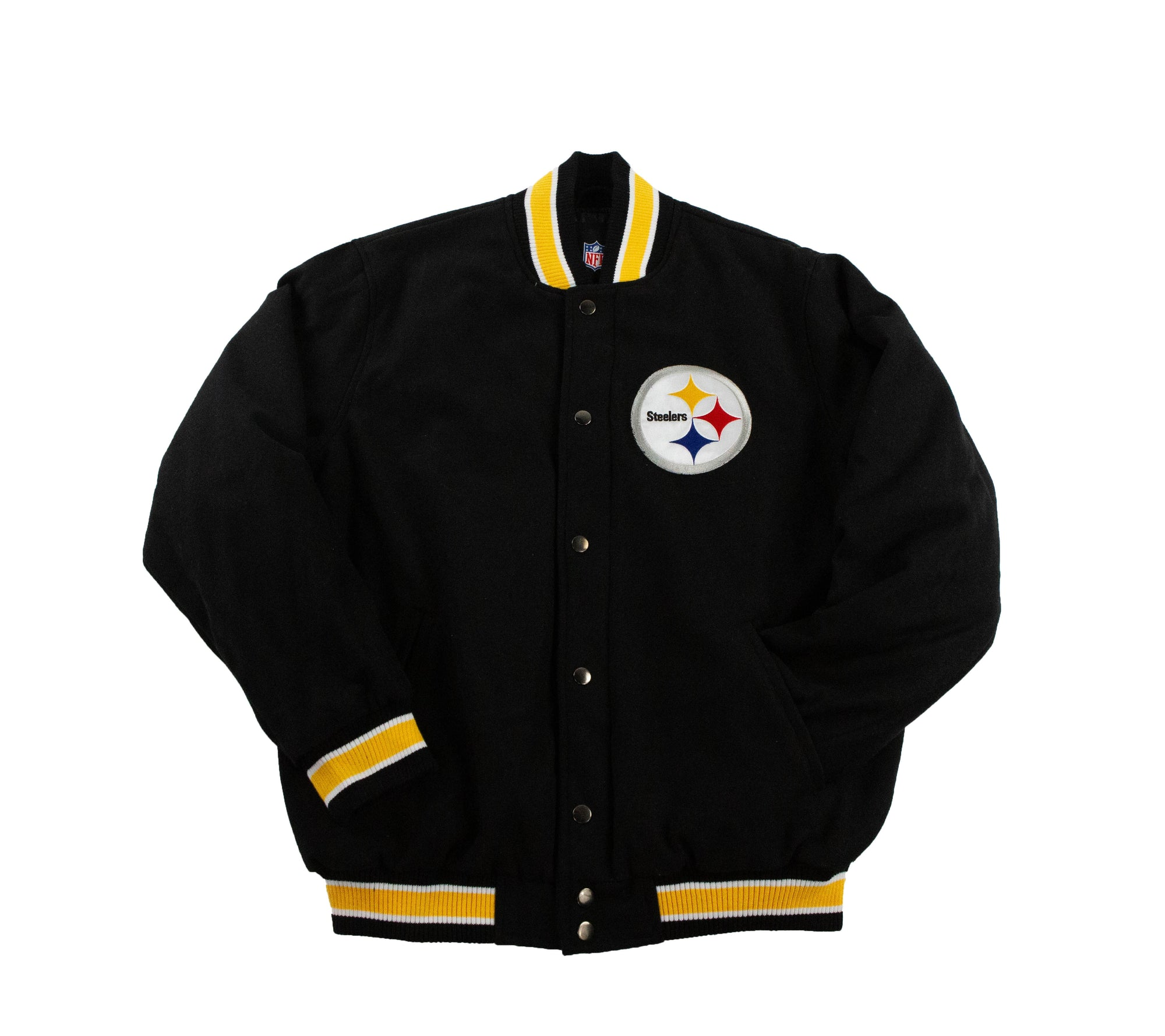 superior quality 2a46e 945df PITTSBURGH STEELERS WOOL VARSITY JACKET