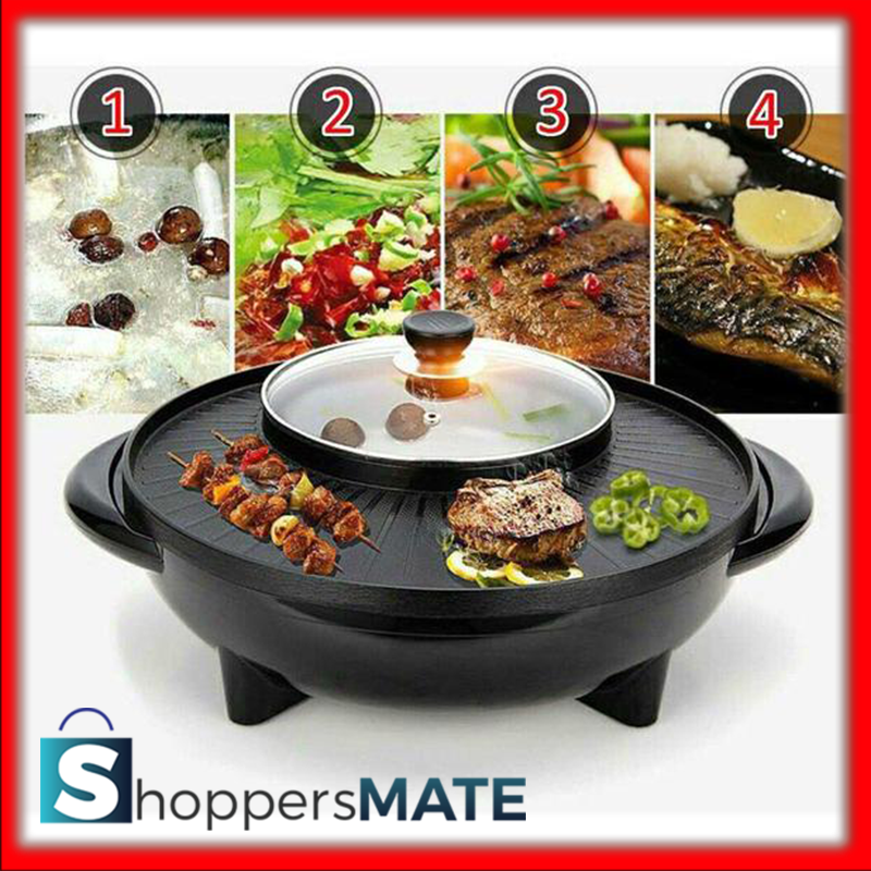 2 IN 1 KOREAN BBQ GRILL AND HOT POT SHABU SHABU