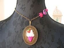 Load image into Gallery viewer, OOAK ice cream necklace choker kawaii fairy kei lolita fashion