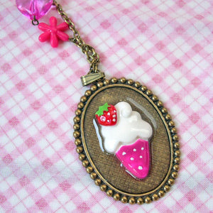 OOAK ice cream necklace choker kawaii fairy kei lolita fashion