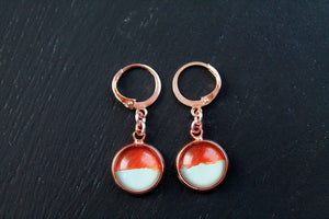 Rose gold dainty earrings, dangle earrings, elegant jewelry