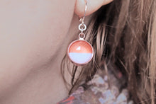 Load image into Gallery viewer, Rose gold dainty earrings, dangle earrings, elegant jewelry