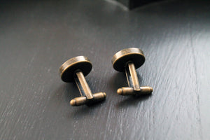 Cuff links, copper and brass , formal wear, formal jewelry, men accessory, wedding, father's day