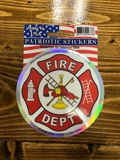 Fire Dept. Decal