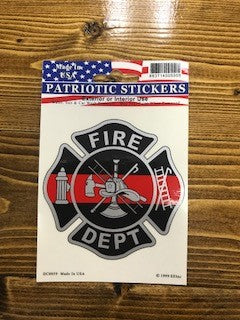 Fire Dept. Maltese Cross Decal