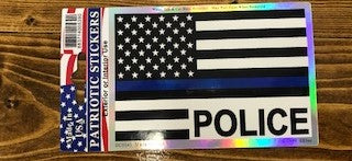 Police Flag Decal