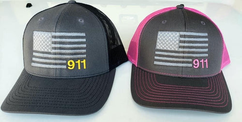 911 Dispatcher Flag Hat