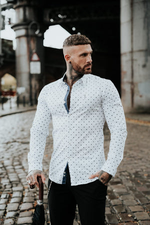 Unforgivable polkadot Muscle Fit Shirt