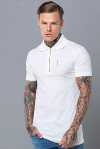 Envy Polo Shirt - White & Gold