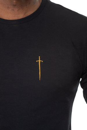 Sinner Crew Neck Tee - Black & Gold