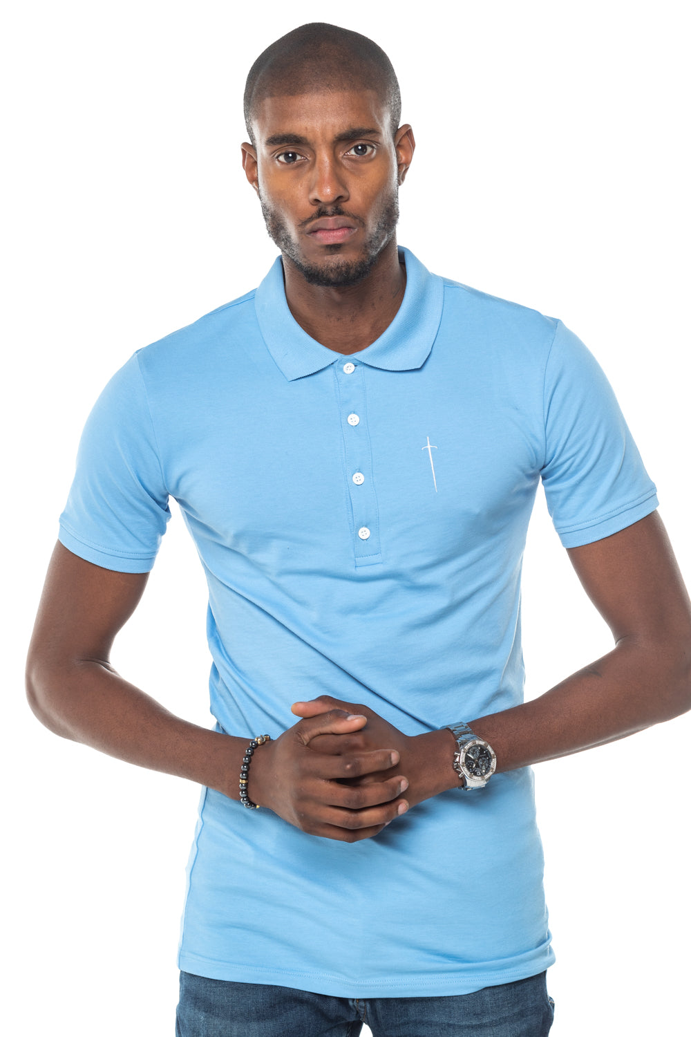 Sinner Polo Shirt - Light Blue