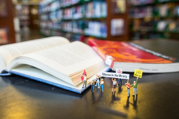 Tiny People - Library protest
