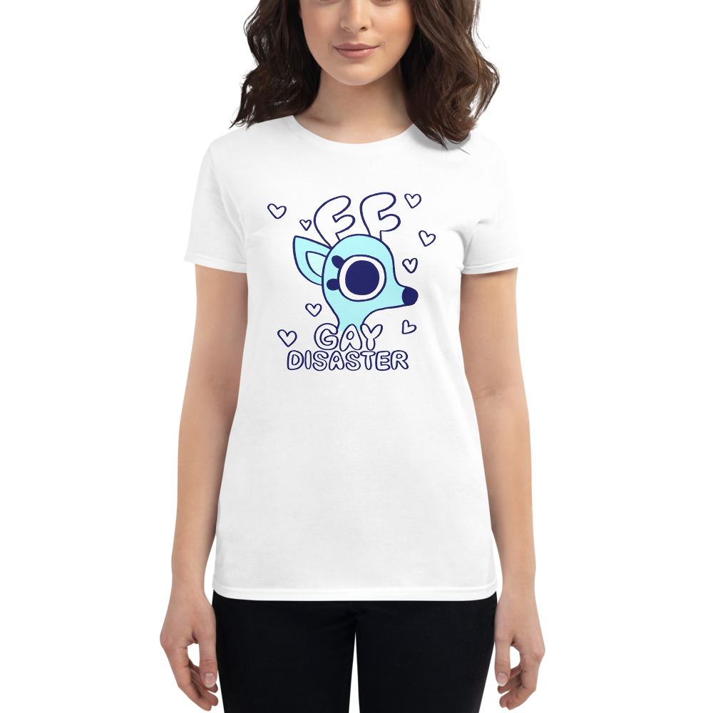 Rae the Doe - Gay Disaster (Blue) Women's Fit T-Shirt