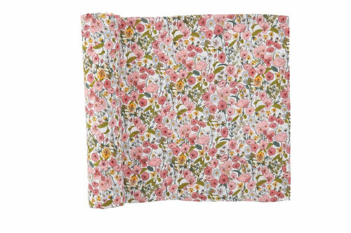 Fall Floral Muslin Swaddle Blanket