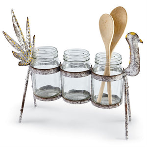 Turkey Tin Utensil Caddy